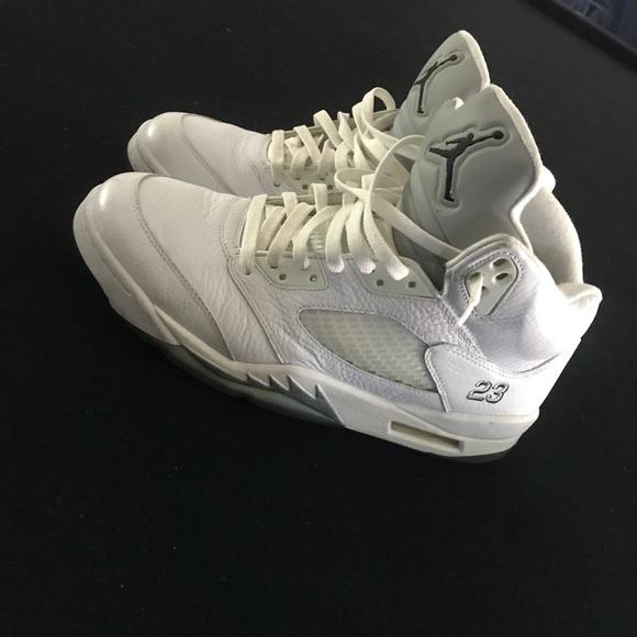 new concept 1a51c b3387 Jordan white metallic 5s